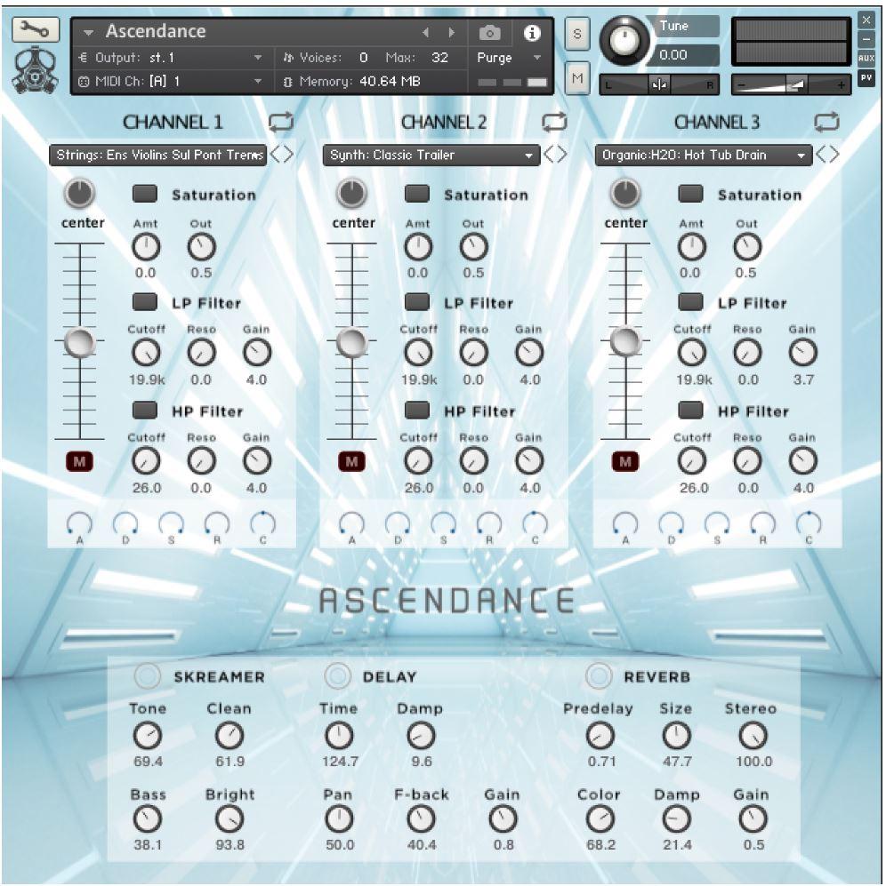 Ascendance Riser Instrument GUI